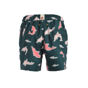 Mazu Resortwear Classic Swim Shorts | Indo-Pacific Humpback | Pink Dolphin Design