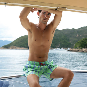 Mazu Resortwear Classic Swim Shorts | Bamboo Grove | Bamboo Design