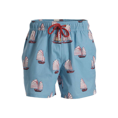 Mazu Resortwear Classic Swim Shorts | Junk Low Tide | Junk Boat Design