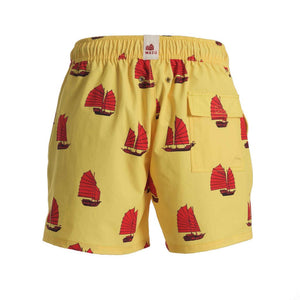 Mazu Resortwear Classic Swim Shorts | Junk Sunrise | Junk Boat Design