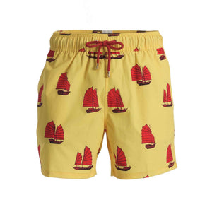 Inspired by traditional Chinese Junk Boats, Mazu Resortwear is a luxury men's swim shorts and trunks swimwear brand inspired by Asian maritime history with attention to high quality and comfort for the modern gentleman/man. Each pair of shorts comes with a free ditty bags to keep your belongings.