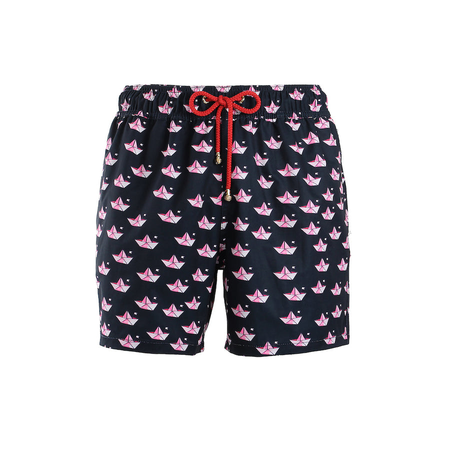 Mazu Resortwear Classic Swim Shorts | Kami | Origami Boat Design