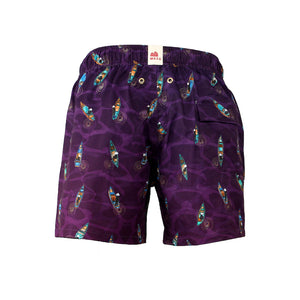 Mazu Resortwear Classic Swim Shorts | Sampans At Twilight | Sampan Design