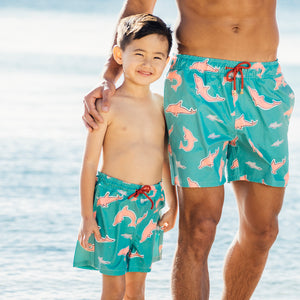 Mazu Resortwear Classic Swim Shorts | Pearl River | Pink Dolphin Design