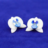 Blue Orchid Earrings