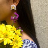 Yellow Orchid Earrings