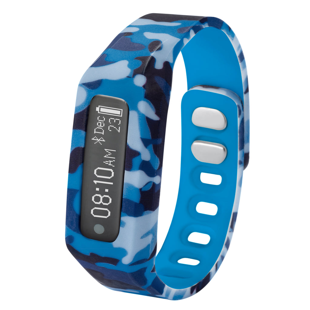 NUBAND JR CHAMPS_BLUE CAMO ACTIVITY AND SLEEP TRACKER