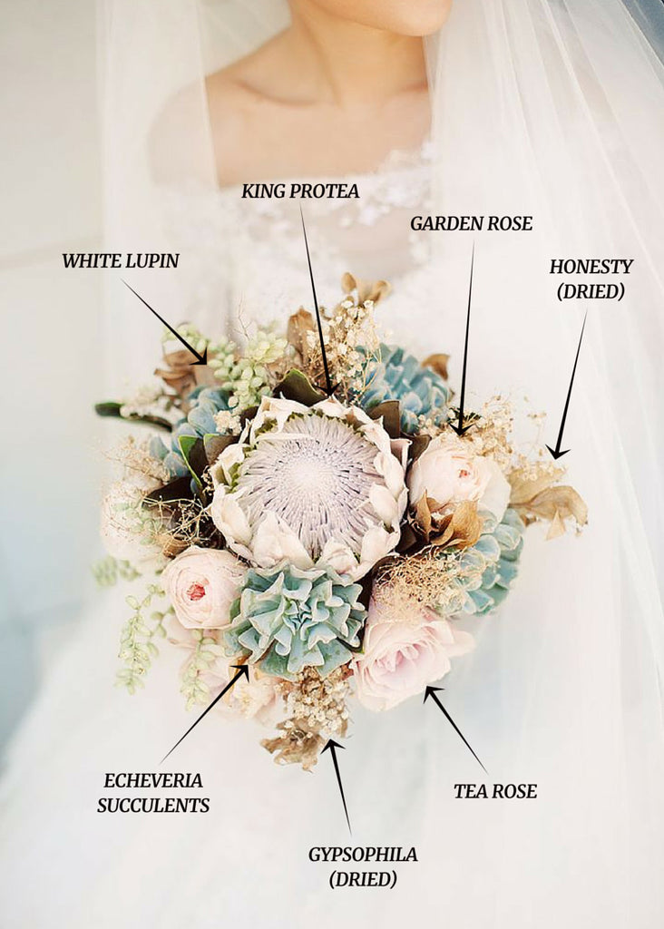 Protea flowers Bridal Bouquet | Cape Town Weddings | Shop Fabulous Flowers