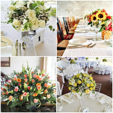 Wedding decorations - Floral decorations by Fabulous Flowers - Wedding Florist Cape Town