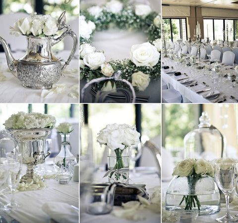 Wedding Centrepieces - Fabulous Flowers.  Specialists in wedding flowers, bridal bouquets