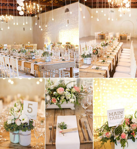 Wedding Table Flowers by Fabulous Flowers - Wedding Florist Cape Town