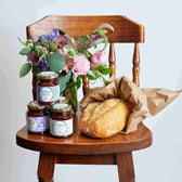 Flowers Jam and Bread