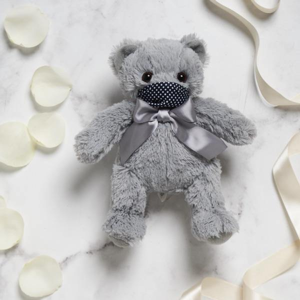 Grey Teddy Small (25cm height) - Fabulous Flowers Cape Town Flower Delivery