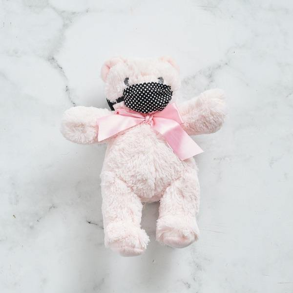 Pink Teddy with Mask (25cm height)