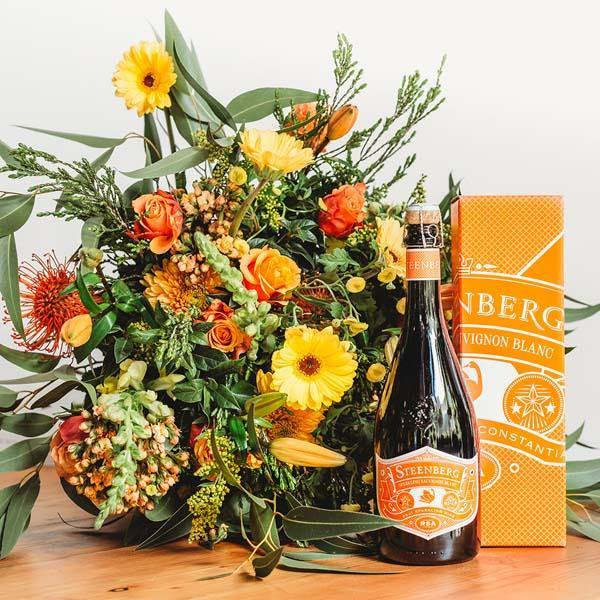 Sparkling Orange Bouquet - Fabulous Flowers Cape Town Flower Delivery