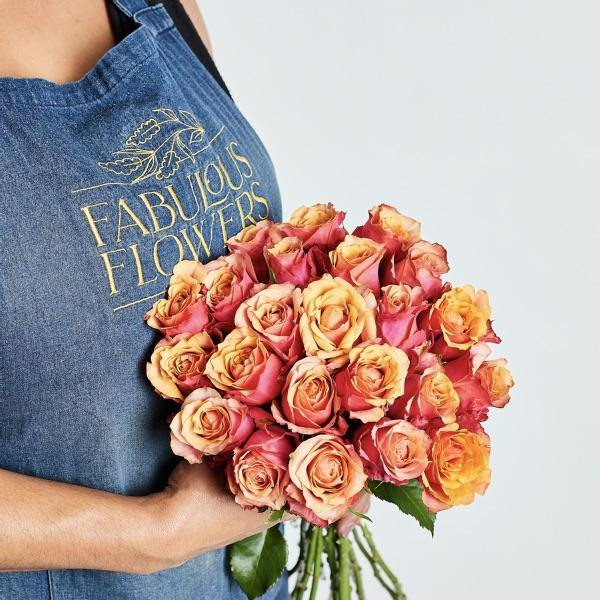 Sunset Rose Bunch (24 Stems) - Fabulous Flowers Cape Town Flower Delivery