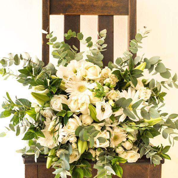 Classic White Bouquet - Fabulous Flowers Cape Town Flower Delivery