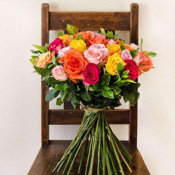 Fifty Mixed Rose Bunch - Fabulous Flowers Cape Town Flower Delivery