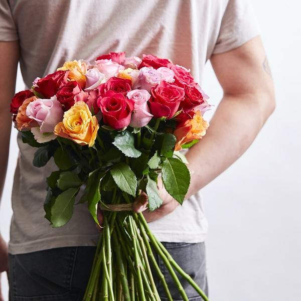 Vibrant Roses (45 Stems) - Fabulous Flowers Cape Town Flower Delivery