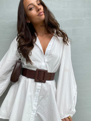 white shirt dress, work from home in style