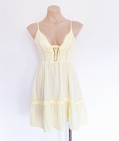 lemon summer dress