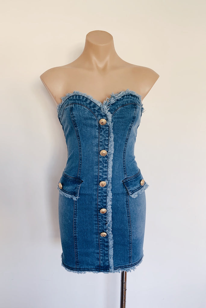 Roza Denim Dress - HER Empire Fashion Boutique Terrigal & Online