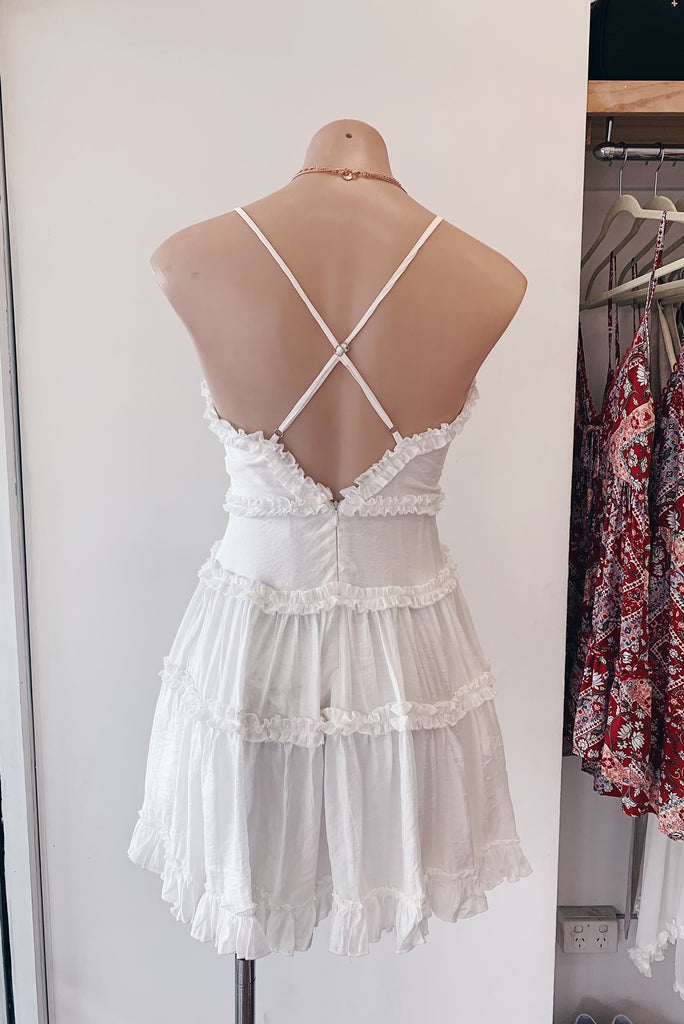 Ava Dress in White - HER Empire Fashion Boutique Terrigal & Online