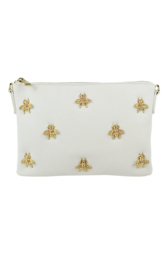 Bee Clutch in White - HER Empire Fashion Boutique Terrigal & Online