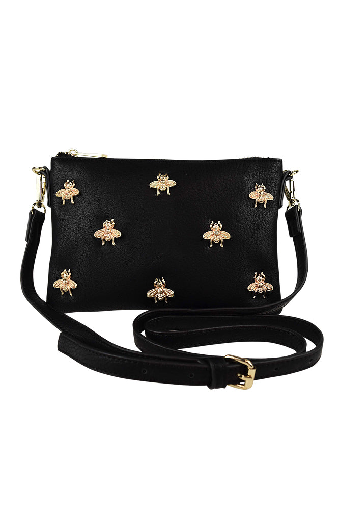 Bee Clutch in Black - HER Empire Fashion Boutique Terrigal & Online