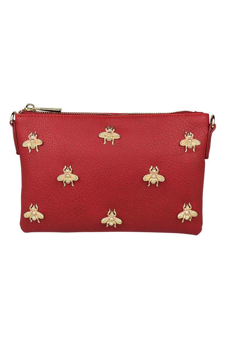 Bee Clutch in Red - HER Empire Fashion Boutique Terrigal & Online