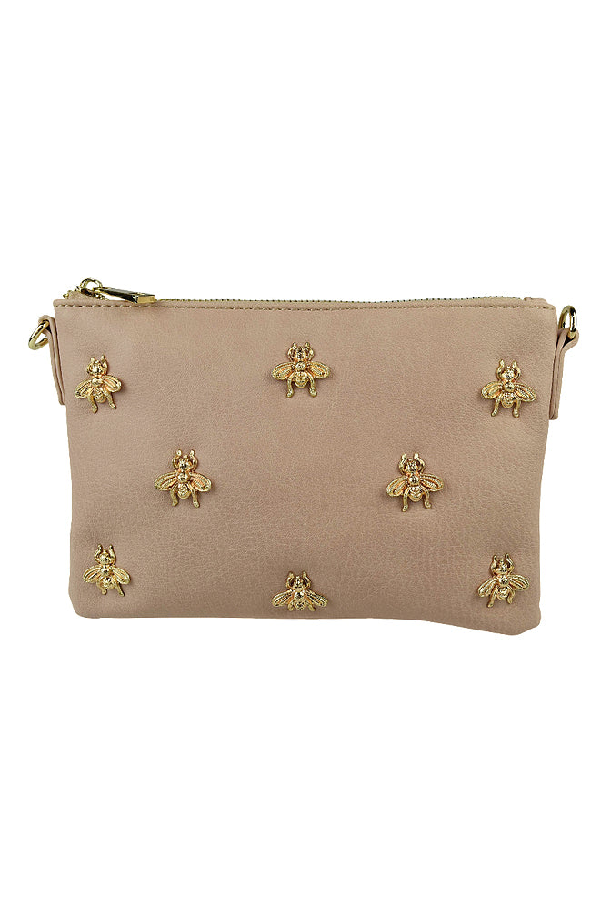 Bee Clutch in Nude for $49.95