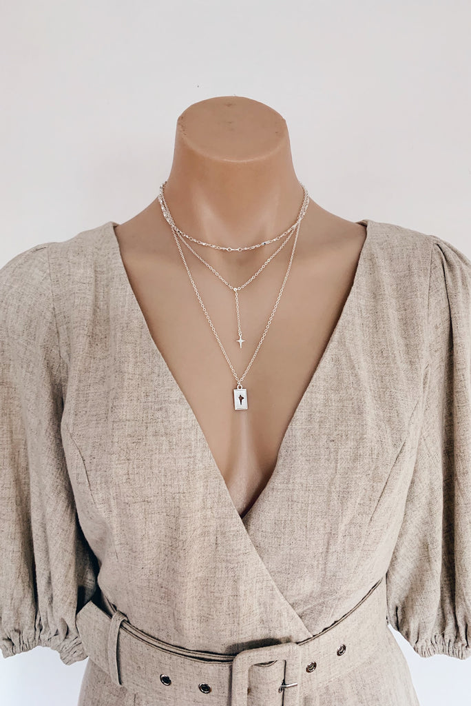 Daegan Necklace in Silver for $39.00