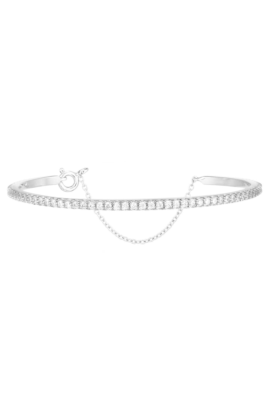 Layla Bangle in Silver