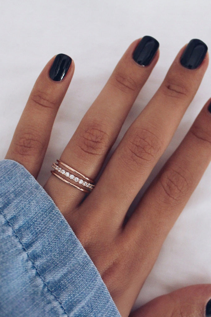 Drew Ring Set Rose Gold - HER Empire Fashion Boutique Terrigal & Online