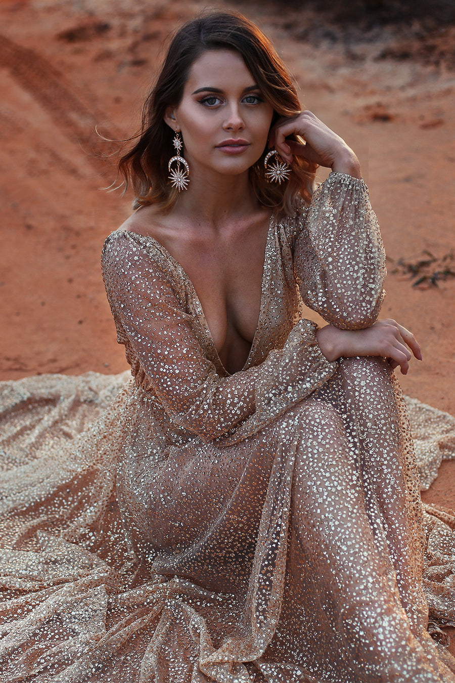 Nala Glitter Gown - HER Empire Fashion Boutique Terrigal & Online