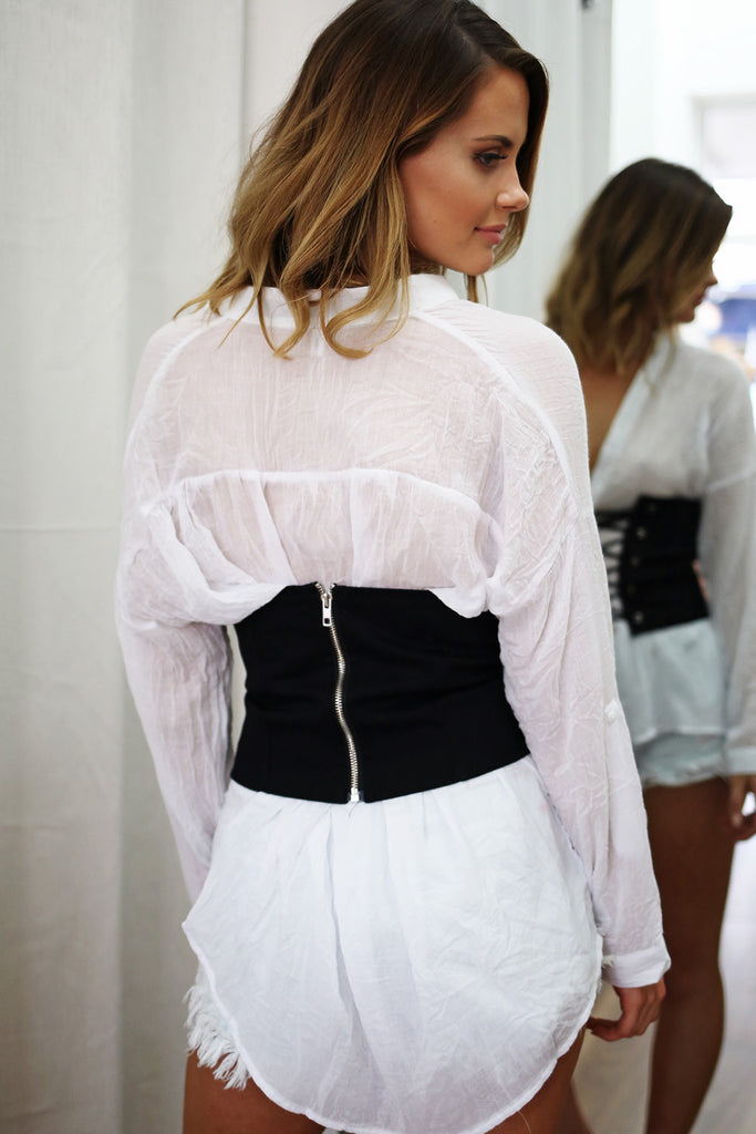 Kylie Corset Belt in Black - HER Empire Fashion Boutique Terrigal & Online