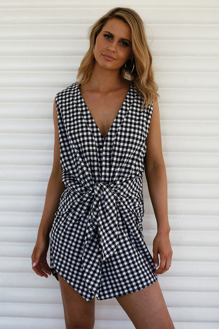 Gingham Knot Dress