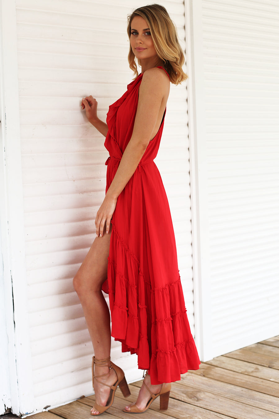 Love Affair Wrap Maxi Dress