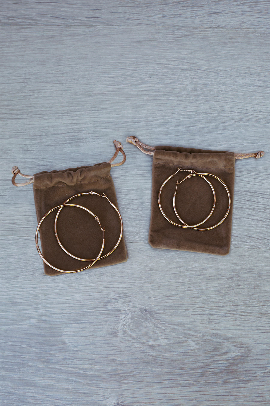 Big City Hoop Earrings in Gold for $35.00