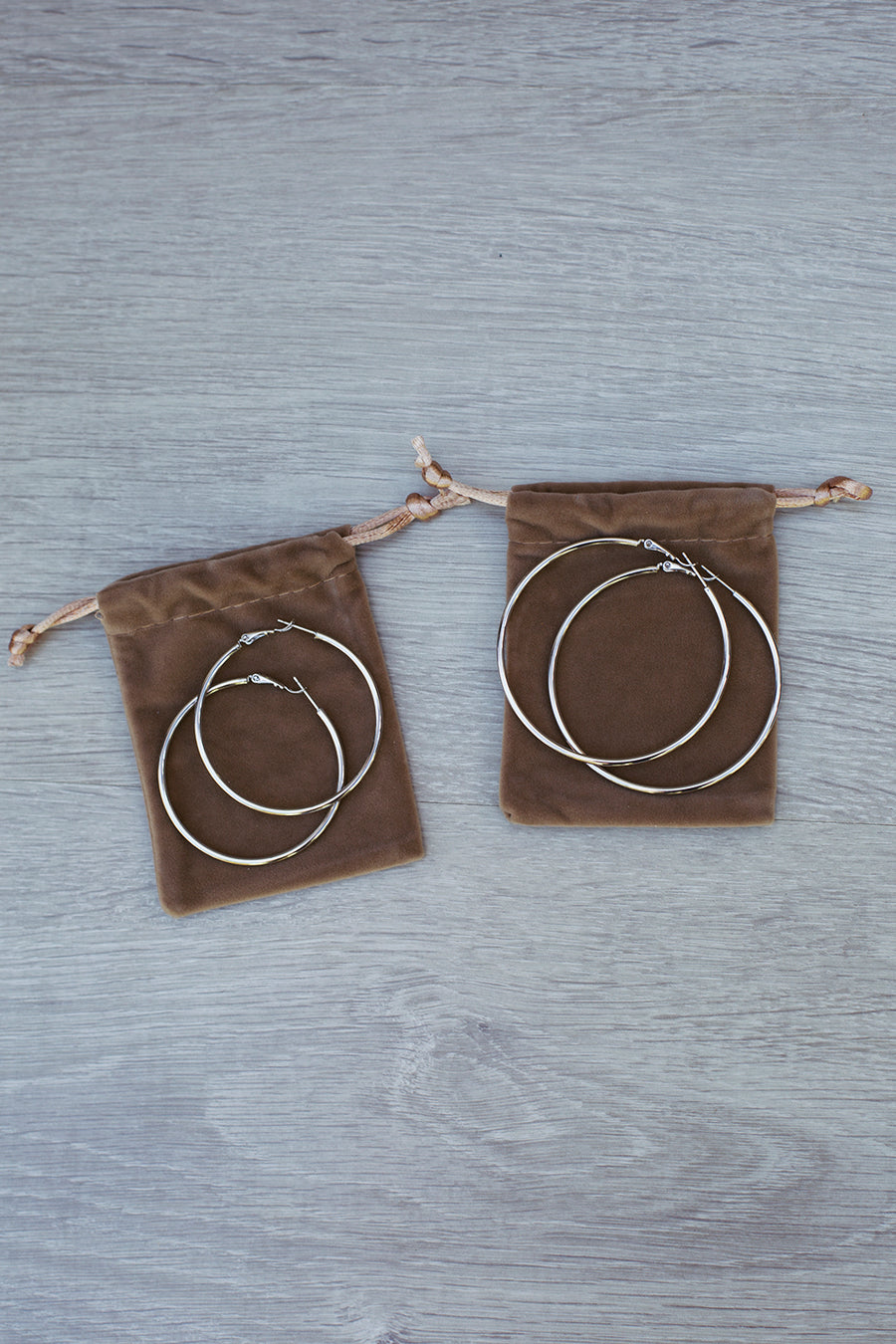 Big City Hoop Earrings in Silver for $35.00