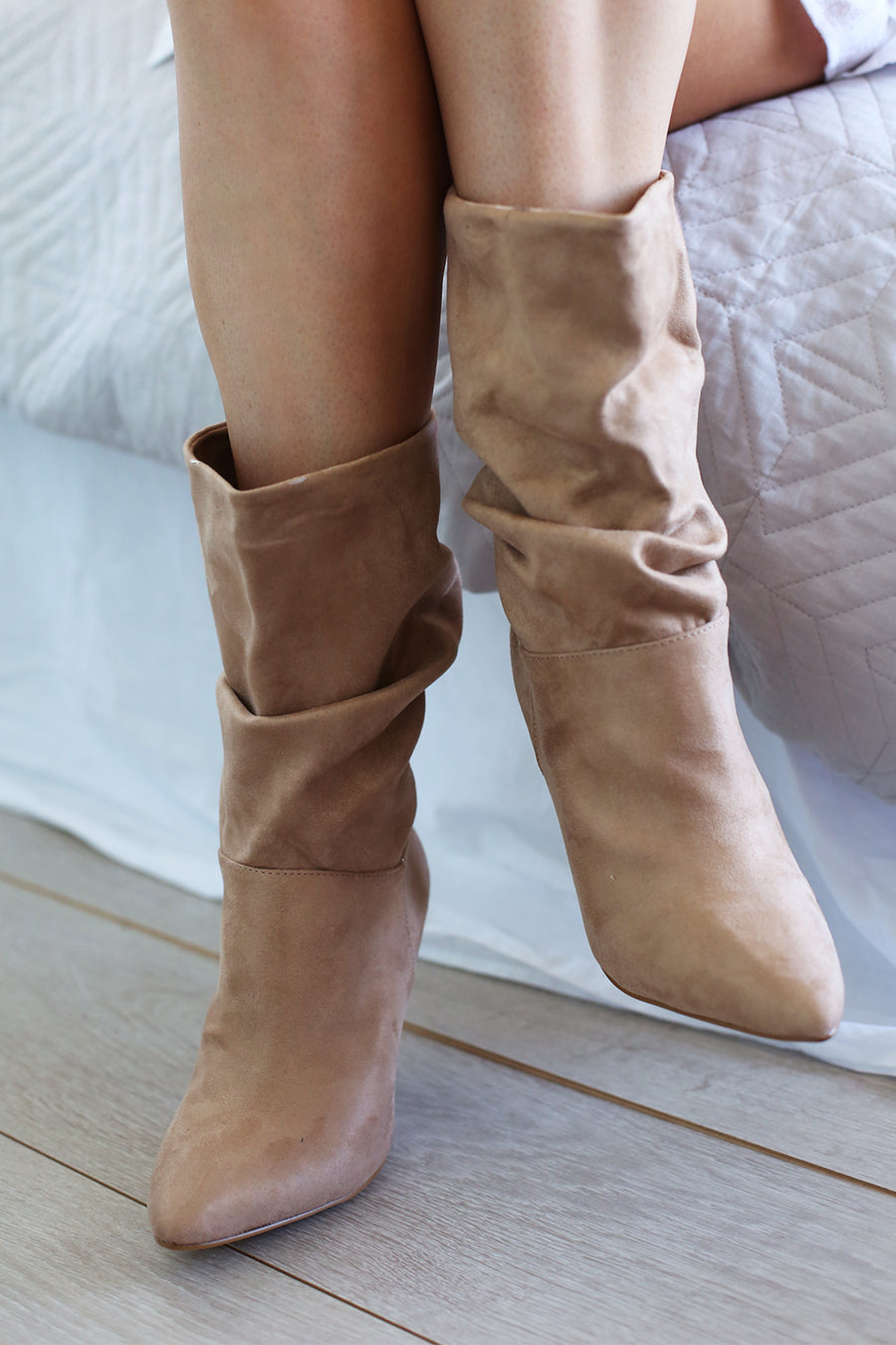Indu Slouch Boot - Sand Micro - HER Empire Fashion Boutique Terrigal & Online