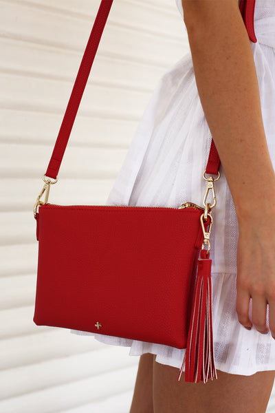 Kourtney Clutch in Red - HER Empire Fashion Boutique Terrigal & Online