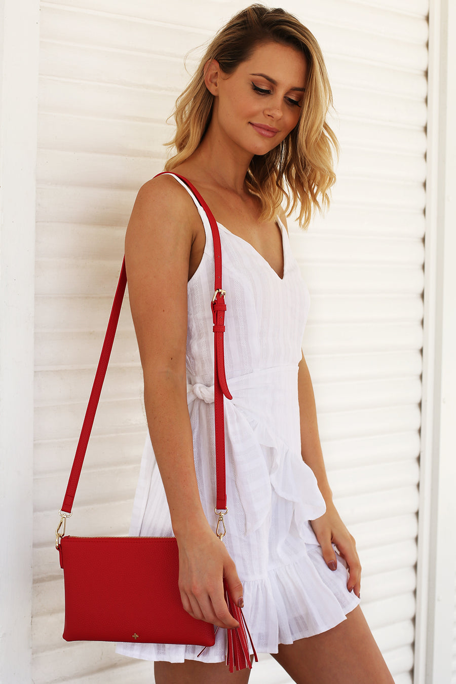 Kourtney Clutch in Red for $49.95
