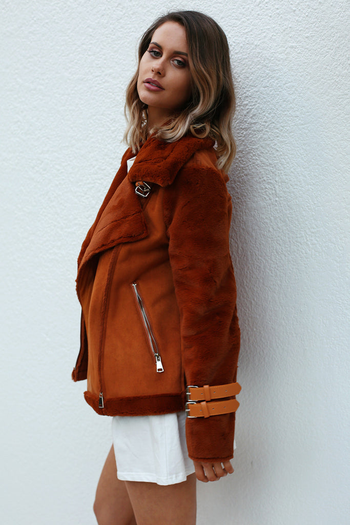 PRE-ORDER: EMPIRE BUCKLE COAT in Camel