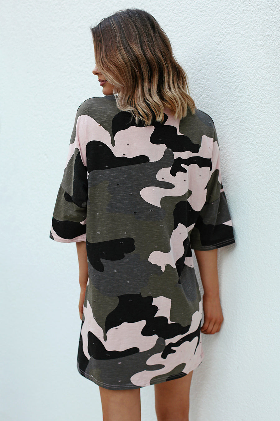 Kylie Camo T-Shirt Dress