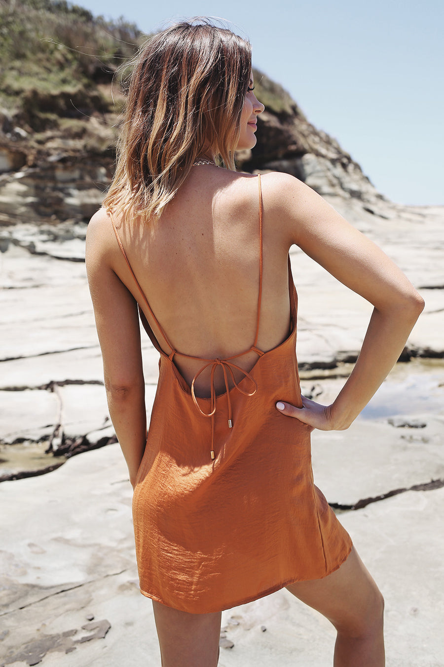 Agnelia Dress in Amber - HER Empire Fashion Boutique Terrigal & Online