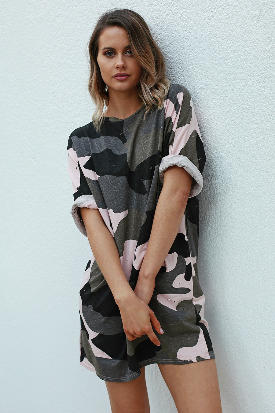 Kylie Camo T-Shirt Dress - HER Empire Fashion Boutique Terrigal & Online