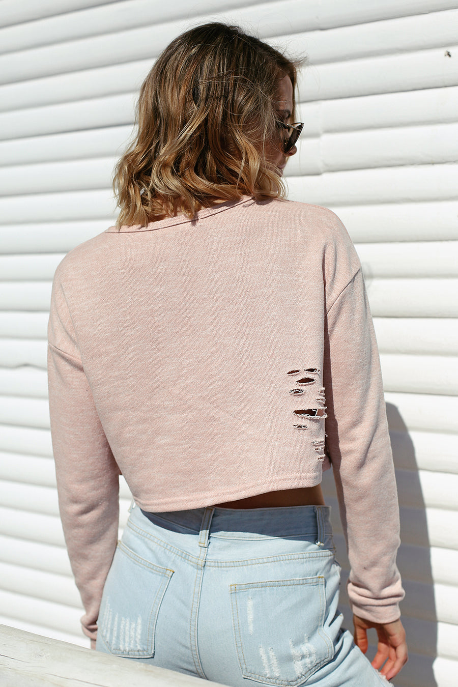 Like Yeezy Crop Top Pink - HER Empire Fashion Boutique Terrigal & Online