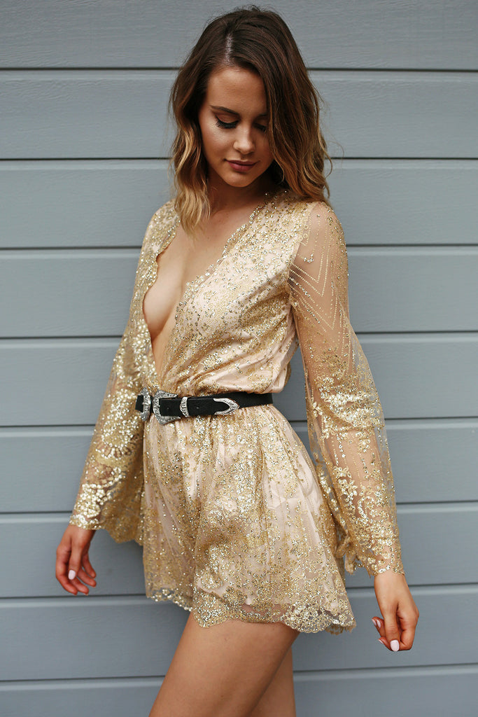 Gold Rush Playsuit