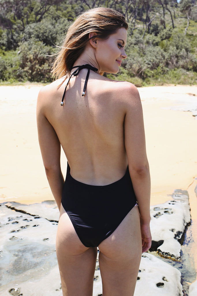 Jerry Hall Halter One Piece - HER Empire Fashion Boutique Terrigal & Online